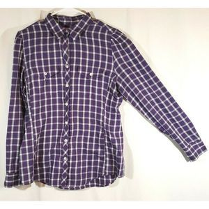 Banana Republic Purple Flannel Button Up Shirt